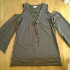 Umgee Cold Shoulder Tunic/Dress